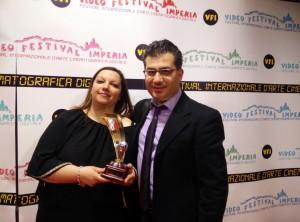 gisella calabrese e giuseppe mallozzi alla premiazione video festival imperia 2 (Medium)