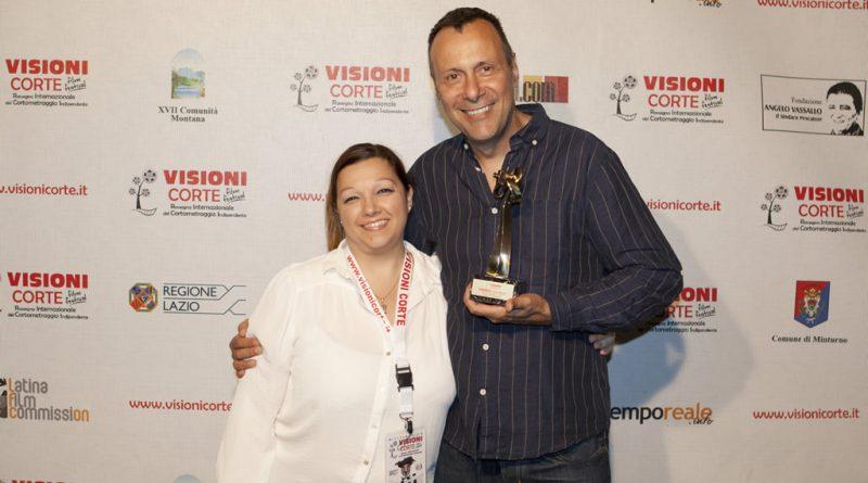 Gisella Calabrese con Lu Pulici vincitore del premio CortoMusic